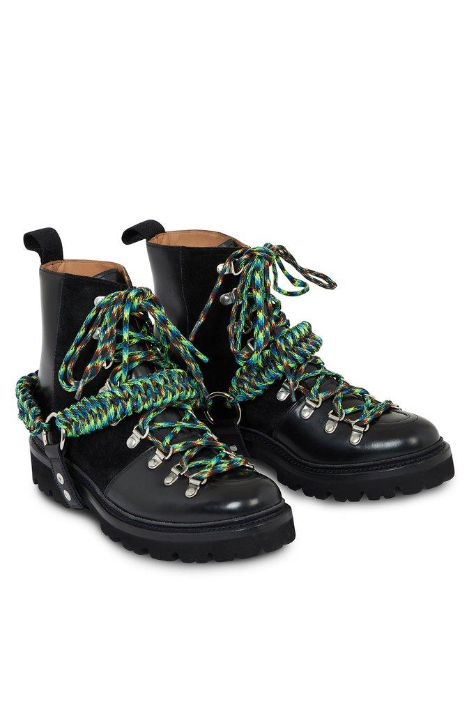 HOH x Grenson Solid Black and Lime Nanette Boot