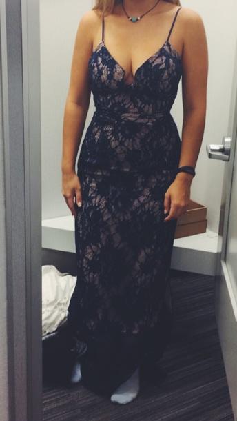 dress blue lace dress prom