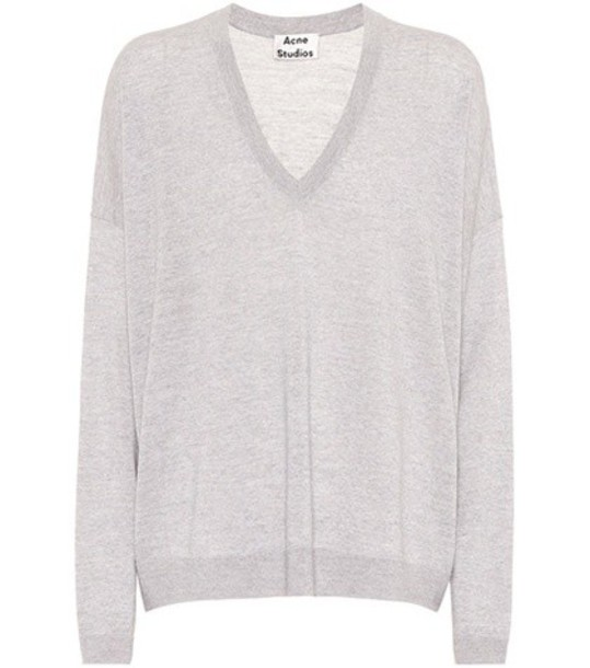 Acne Studios sweater wool sweater wool grey