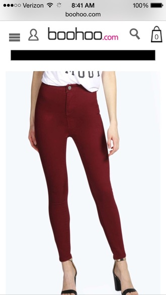jeans red pa pants high waisted shorts high waisted jeans high waisted skirt red
