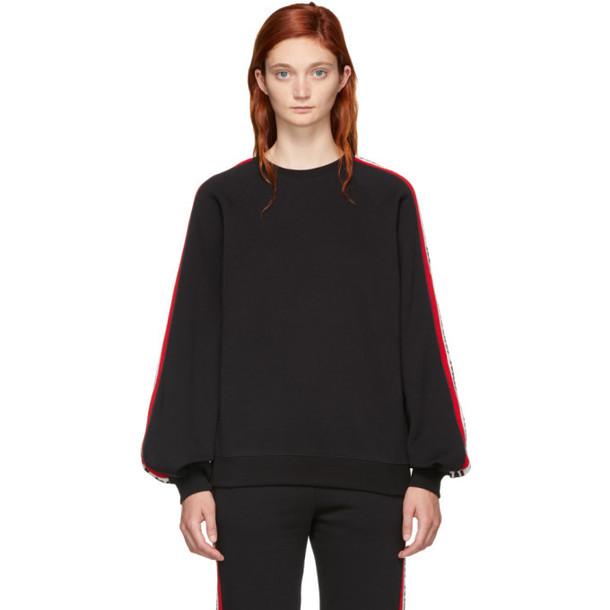 MSGM Black Logo Band Sweatshirt
