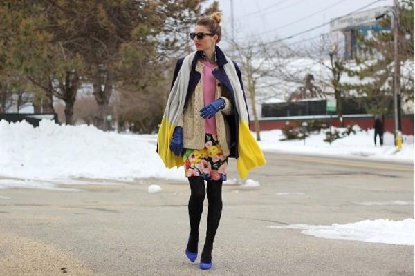 jess style rules scarf dress shoes coat sweater sunglasses jewels