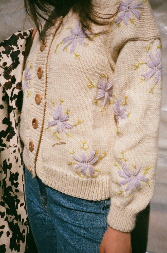 Lucero Sweater - Beige & Lilac