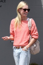kate bosworth,red sweater,orange sweater,sweater