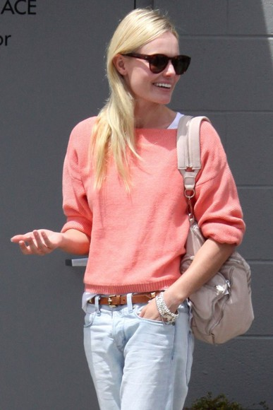 kate bosworth red sweater orange sweater