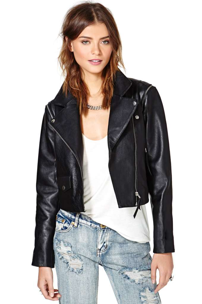 Just Female Dagman Convertible Leather Jacket | Shop Clothes at Nasty Gal