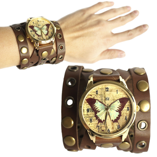 jewels butterfly watch watch brown ziz watch ziziztime