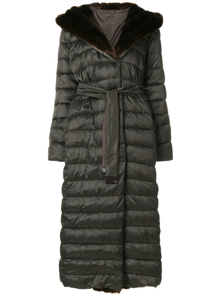 'S Max Mara 'S Max Mara - padded robe style coat - women - Feather Down/Polyamide/Polyester - 42, Green, Feather Down/Polyamide/Polyester
