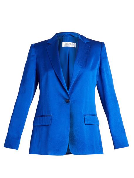 Max Mara jacket silk blue