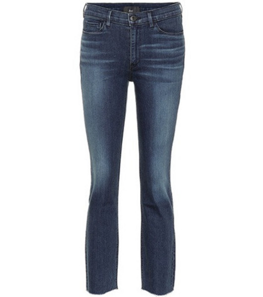 3x1 W2 cropped straight-leg jeans in blue