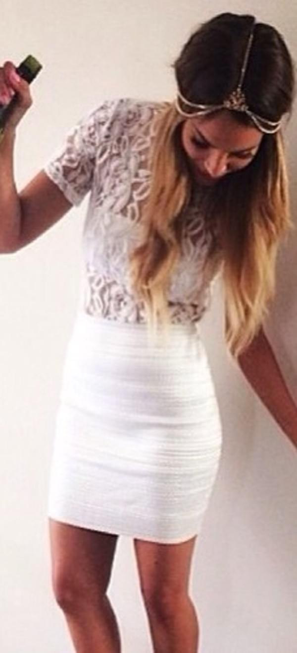 dress white blonds