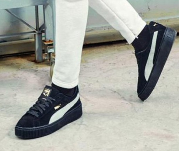shoes puma black bts sneakers platform sneakers puma sneakers f8e58dc40