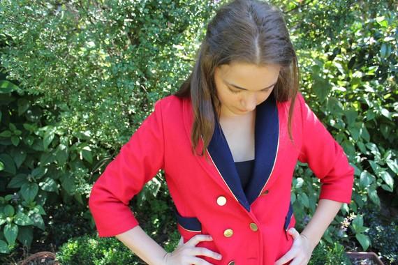 On sale red1980's mod coat by theseareafewofmy on etsy