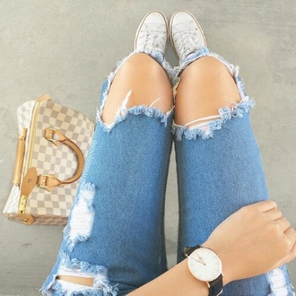jeans denim acid wash jeans cutted