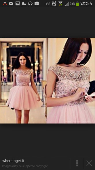 pink dress beads beaded dress crystals short prom dress crystals tule tulle dress homecoming dress evening dress prom dress formal event outfit cute dress dress