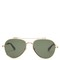 Aviator-frame metal sunglasses