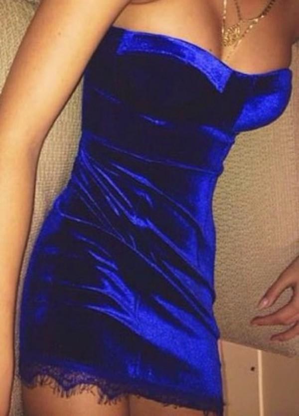 dress velvet dress velvet blue dress royal blue dress lace dress blue lace dress blue velvet dress top shorts shoes style fashion blouse crop tops skirt bag jacket