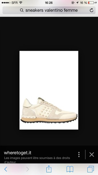 shoes Valentino white sneakers