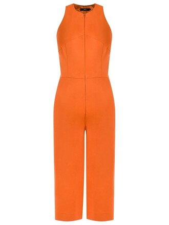 jumpsuit cropped jumpsuit cropped women spandex cotton yellow orange