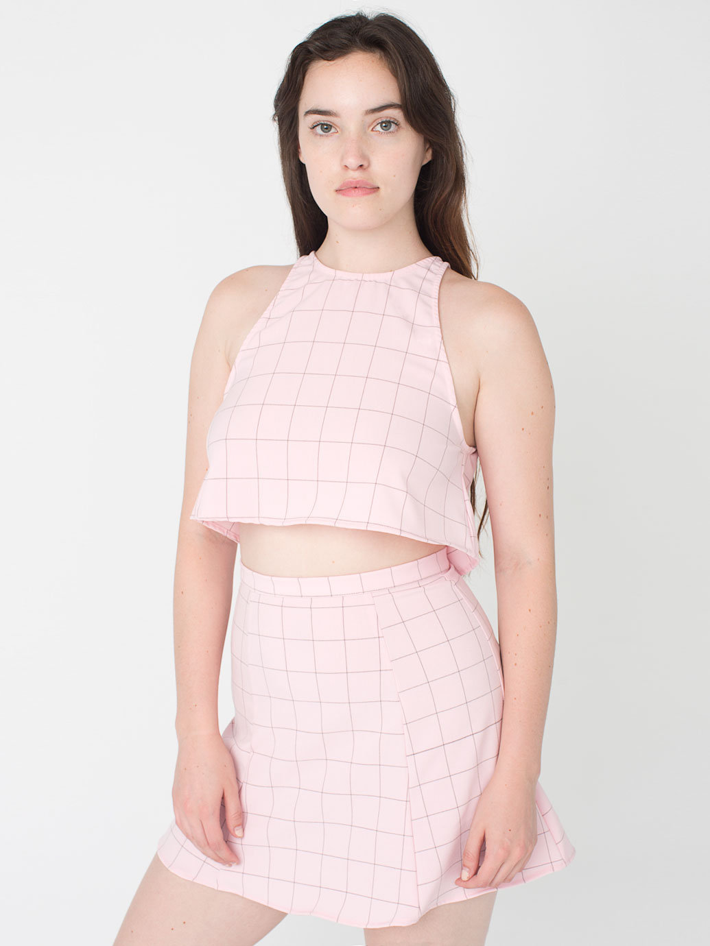 The Grid Print Lolita Mini Skirt | American Apparel