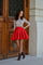 Fairytale collection: perfect pleats red