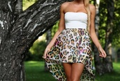 dress,leopard print,high-low dresses