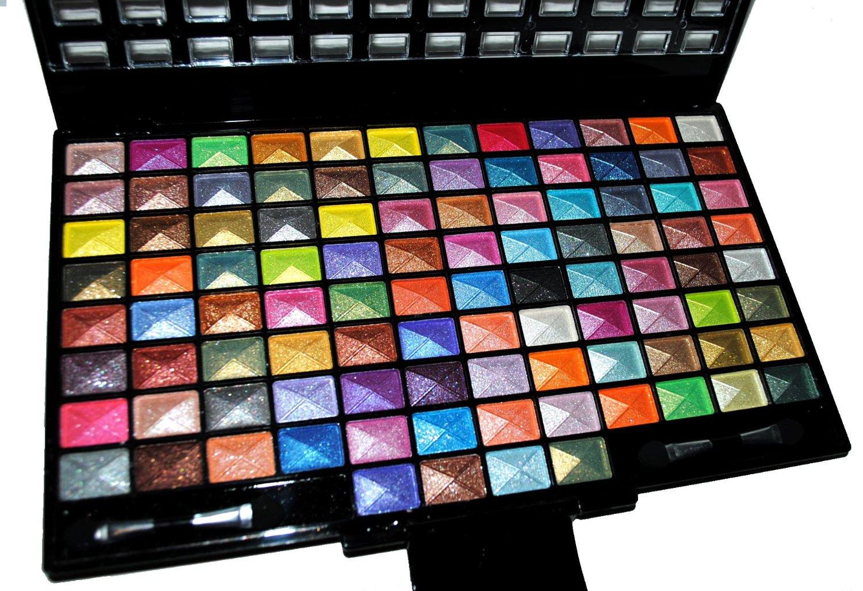 Amazon.com : Elegant 100 Piece Glitter Eyeshadow Makeup ...