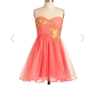 dress modcloth homecoming dress coral dress not too expensive