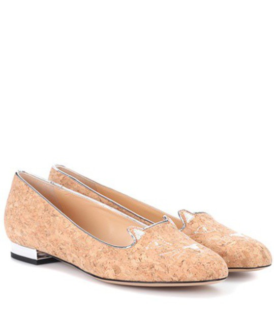 charlotte olympia beige shoes