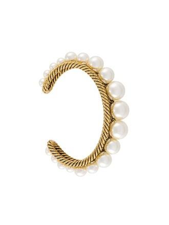 cuff pearl metallic jewels