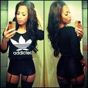 t-shirt,addicted,black,white,shorts
