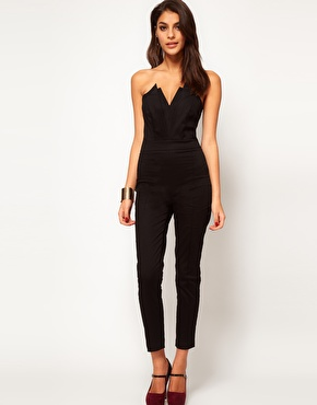 ASOS | ASOS Jumpsuit With Pleat Bust Origami Detail at ASOS