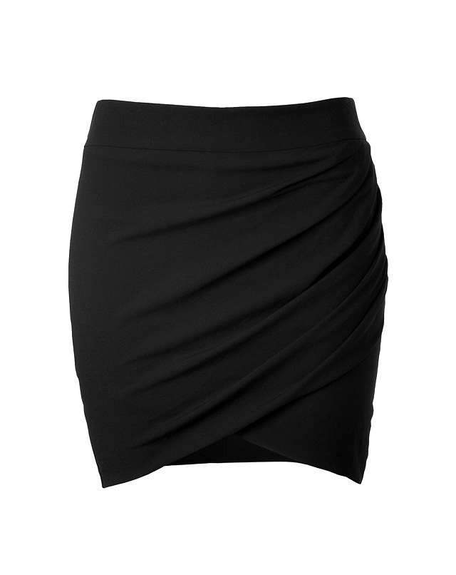 Crepe Twisted Mini-Skirt from HELMUT LANG | Luxury fashion online | STYLEBOP.com