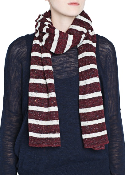 MANGO - Accessories - Hats, Gloves and Scarves - Lurex striped muffler