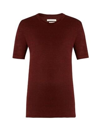 t-shirt shirt boyfriend burgundy top