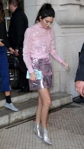 skirt,pink,metallic skirt,chinese,asian fahion,chinese shirt,purple,kendall jenner