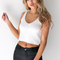 Anja knitted top in white - black swallow boutique