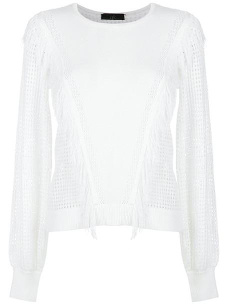 Nk blouse women white knit top