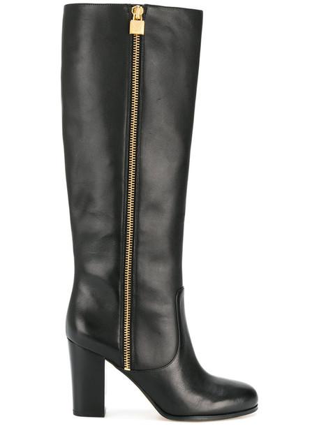 Michael Kors women leather black shoes