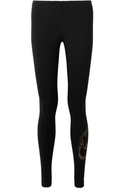 Nike leggings metallic cotton black pants