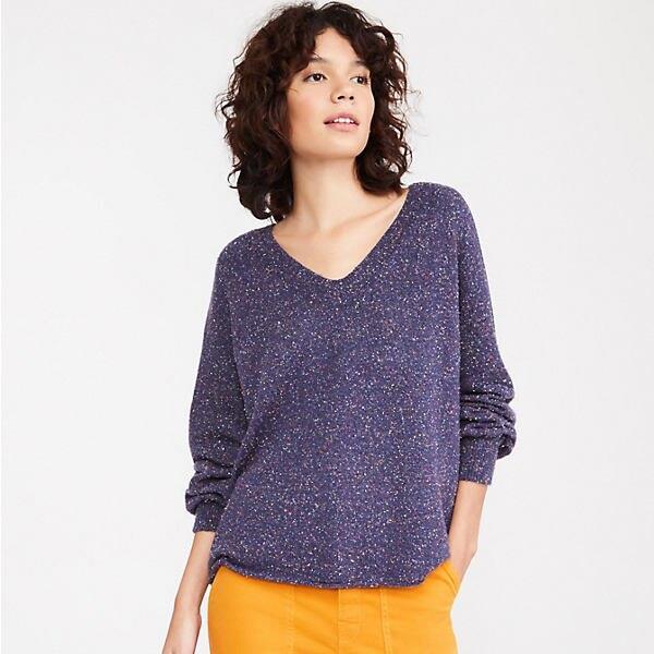 Flecked V-Neck Sweater