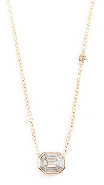 Shay necklace gold yellow jewels