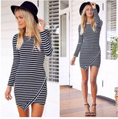 ripped,stripes,long sleeves,night,day,evening outfits,party,striped dress,dress,long sleeve dress,evening dress,wow