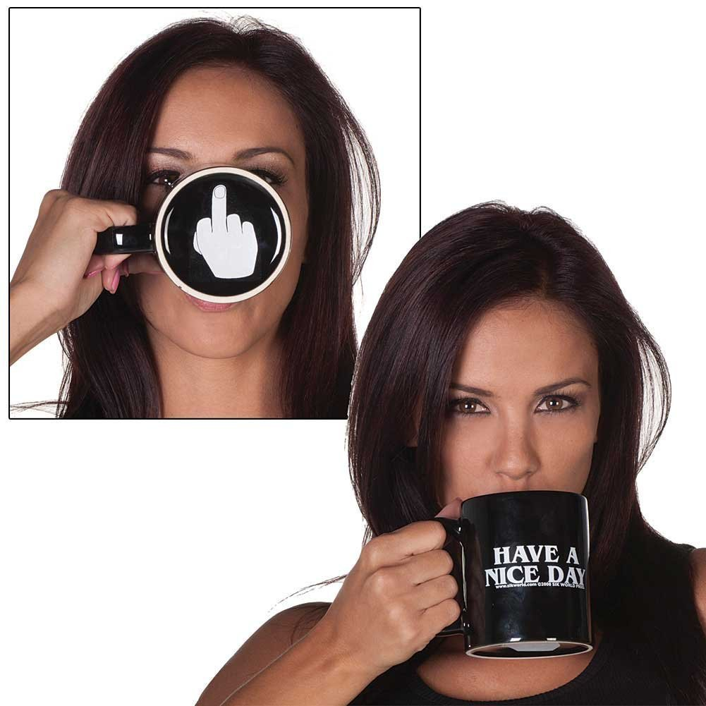 Amazon.com: Marljohns Have a Nice Day Funny Coffee Mugs: Kitchen & Dining