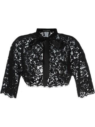 jacket women lace floral cotton black silk