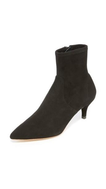 Loeffler Randall Kassidy Stretch Low Heel Booties in black