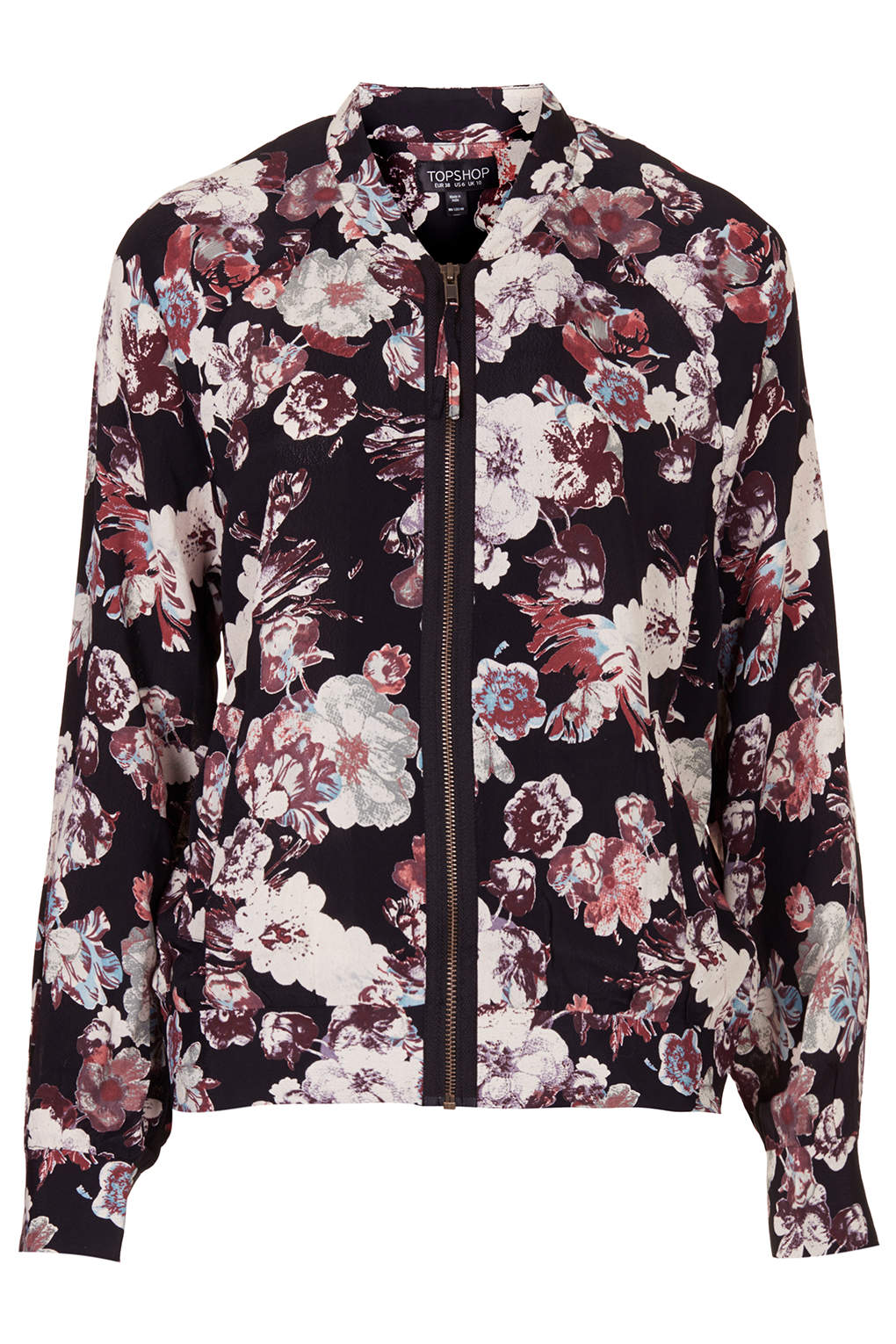 Blurred Flower Bomber Jacket