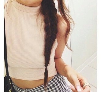 top crop tops beige crop top beige turtleneck vintage cute girly style stylish trendy tumblr cool girl streetstyle streetwear instagram pretty knitwear preppy tumblr outfit tumblr top tumblr clothes cropped women date outfit clothes on point clothing knitted crop top