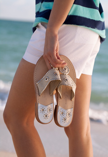 780e459cdcb475 Hamptons Navajo - Metallic Sandals - Shoes - Jack Rogers USA