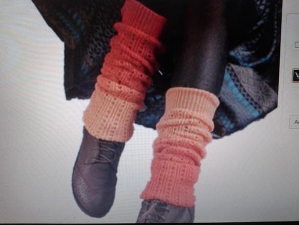 socks orange leg warmers dip dyed